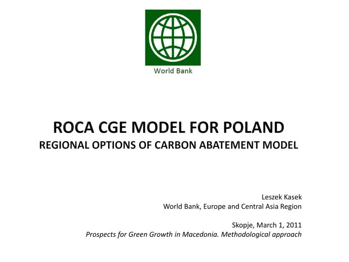 roca cge model for poland regional options of carbon abatement model n.