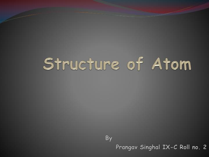 structure of atom n.