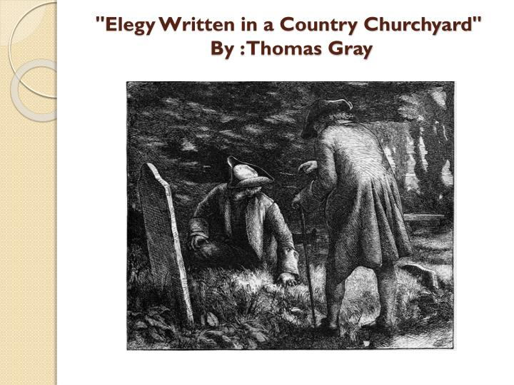 elegy written in a country churchyard by thomas gray n.