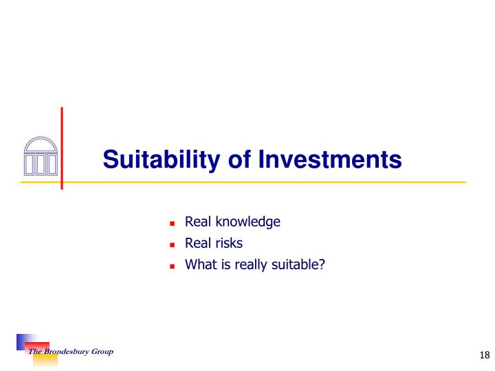 Suitability of Investments