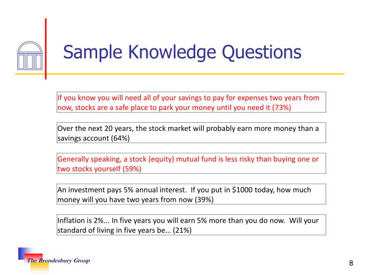 Sample Knowledge Questions