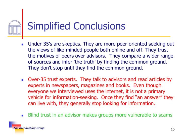 Simplified Conclusions