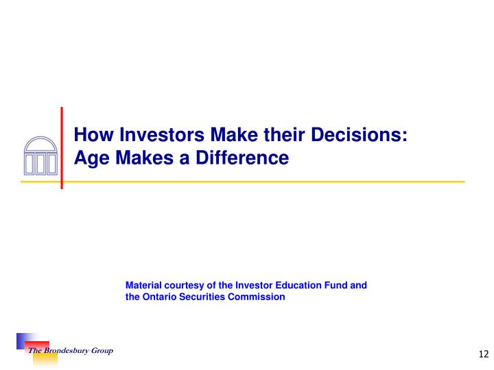 How Investors Make their Decisions: