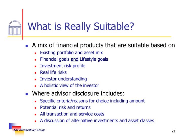 What is Really Suitable?