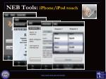 neb tools iphone ipod touch