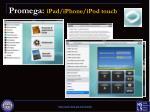 promega ipad iphone ipod touch