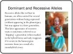 dominant and recessive alleles3