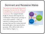 dominant and recessive alleles5