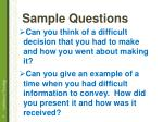 s ample questions
