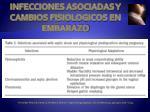 infecciones asociadas y cambios fisiologicos en embarazo