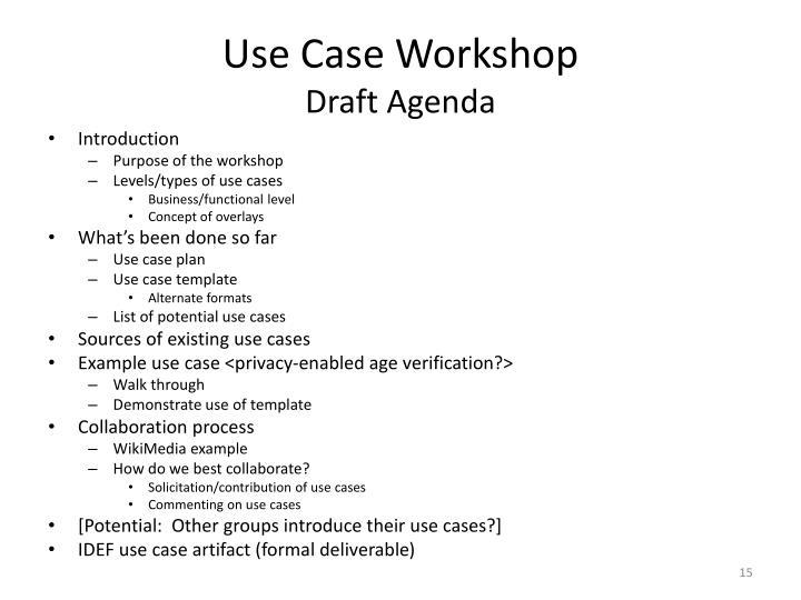 Use Case Workshop