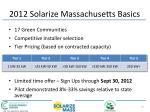 2012 solarize massachusetts basics