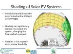 shading of solar pv systems