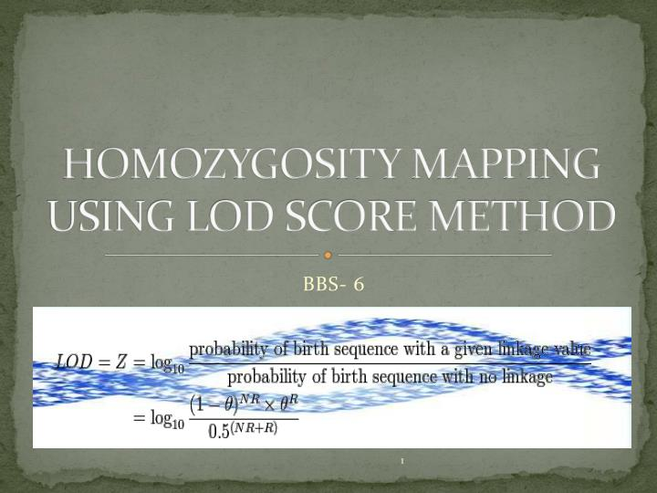 homozygosity mapping using lod score method n.