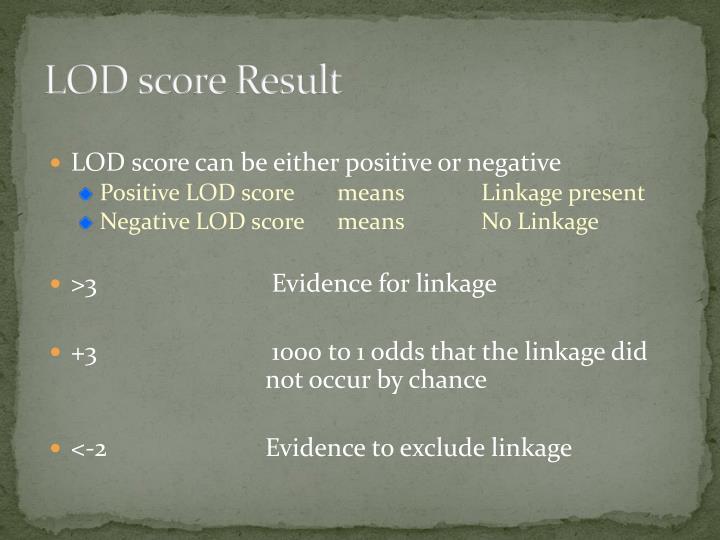 LOD score Result