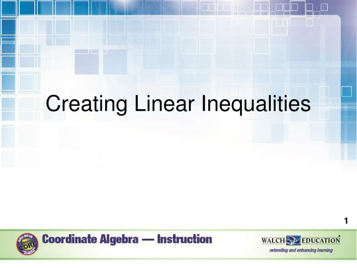 creating linear inequalities n.