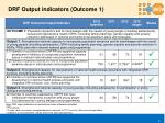 drf output indicators outcome 1