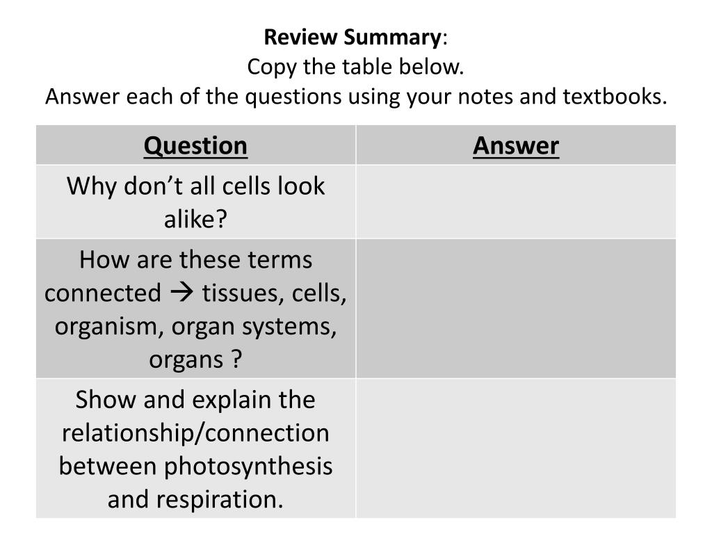 PPT - Test Review - Cells (Part 2 ) : PowerPoint