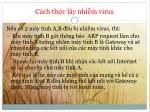c ch th c l y nhi m virus