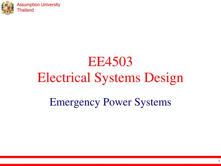 ee4503 electrical systems design n.