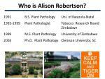 who is alison robertson2