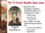 the 2 nd french republic 1848 1852