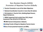 non resident nepalis nrns promoters of nepalese tourism globally