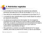 3 nutrientes vegetales