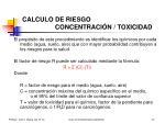 calculo de riesgo concentraci n toxicidad