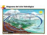 diagrama del ciclo hidrol gico