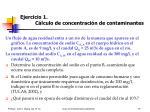ejercicio 1 c lculo de concentraci n de contaminantes