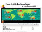mapa de distribuci n del agua a escala mundial
