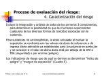 proceso de evaluaci n del riesgo 4 caracterizaci n del riesgo