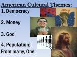 american cultural themes