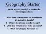 geography starter