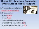 theme 2 american economics where lots of money happens