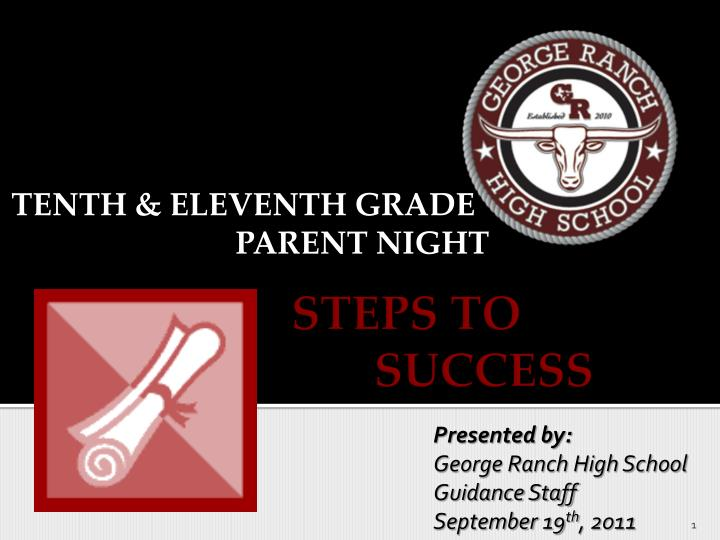 tenth eleventh grade parent night n.