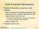 tooth extraction odontectomy