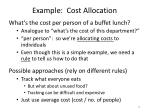 example cost allocation