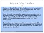 inlay and onlay procedure