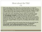more about the tmj