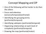 concept mapping and dp