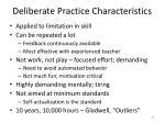 deliberate practice characteristics