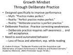 growth mindset through deliberate practice
