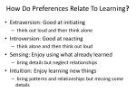 how do preferences relate to learning