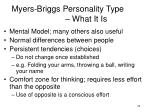 myers briggs personality type what it is