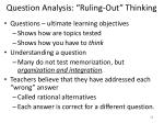 question analysis ruling out thinking