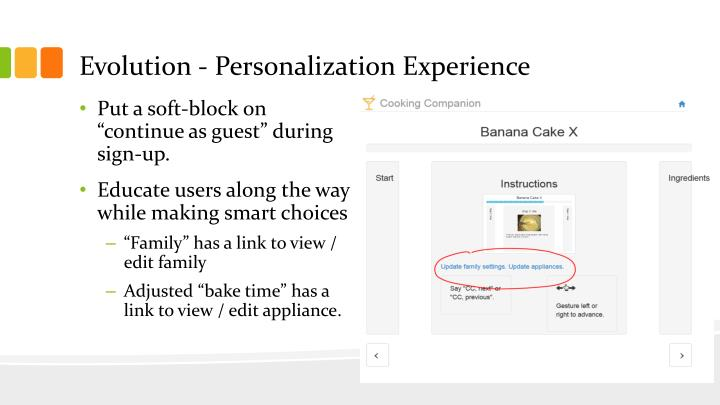 Evolution - Personalization Experience