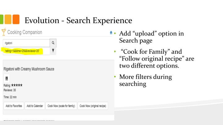 Evolution - Search Experience