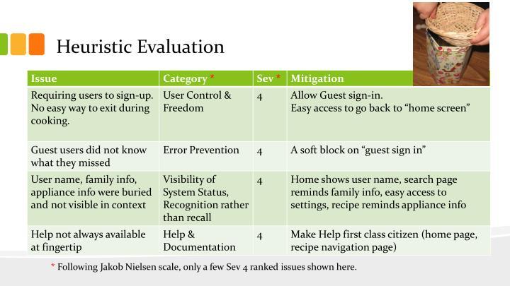 Heuristic Evaluation